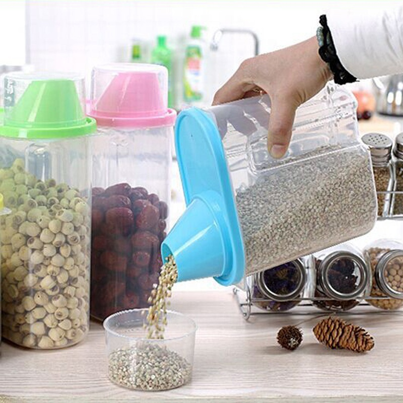 Best Selling 19L Creative Plastic Storage Box Kitchen Food Cereal