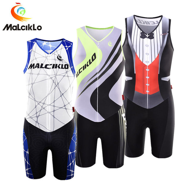 Malciklo Triathlon Suit Quick-dry Sleeveless Cycling Jersey 2018 Skinsuit Mens  Bike Clothing Maillot Cycling Sets Ropa Ciclismo be1d793c6