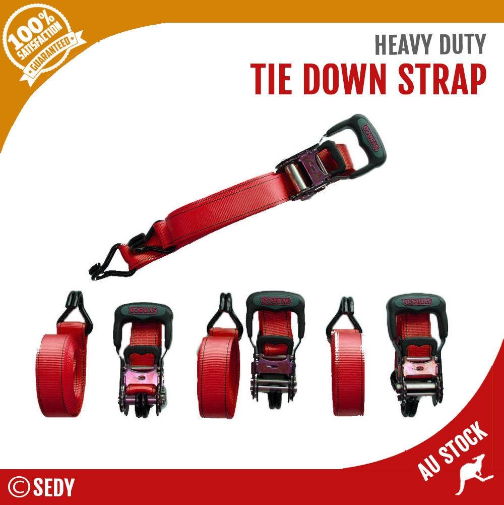 Подробнее о Tie Down Ratchet Strap Set - 4 Pack Heavy Duty Nylon Car Trailer Boat 39mm x 5m 12v car boat heavy duty diessel petrol hep 02a metal set
