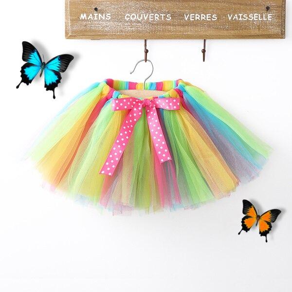 2016 Sommer Kinder Baby Mädchen Rock Tutu Partei Ballet Dance Ballkleid Bunte Prinzessin Rock Für Mädchen 0-8y Knitterfestigkeit