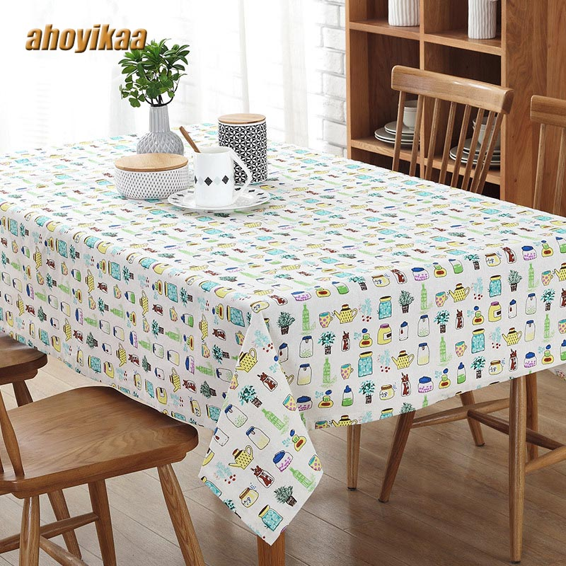 Contracted City Tablecloths Fashion Style Cotton And Linen Fashion Restaurant Coffee Table Cloth Tea Table Cloth Cover Cloth