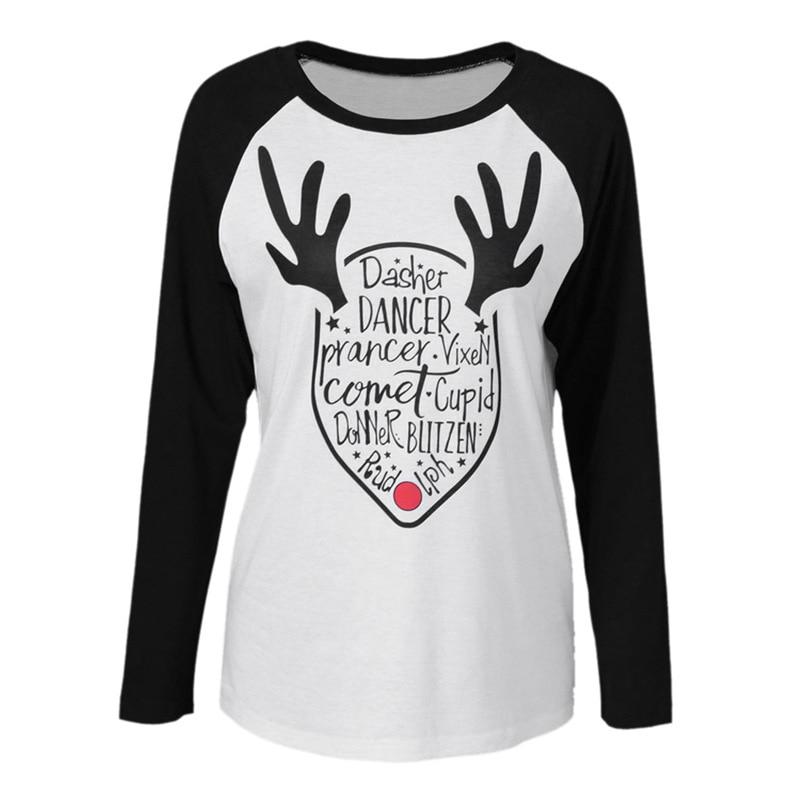 Merry Christmas t shirt Women Plus Size tshirt Long Sleeve ...