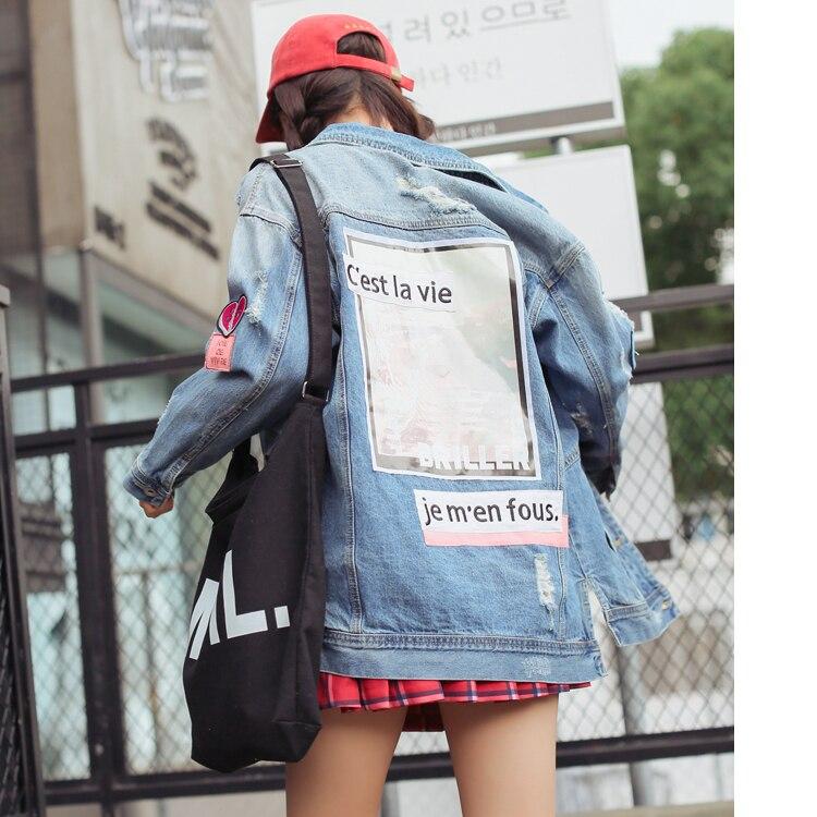 Women   Basic   Coats Autumn And Winter Women Denim   Jacket   Vintage Long Sleeve Loose Female Jeans Coat Casual Girls Outwear