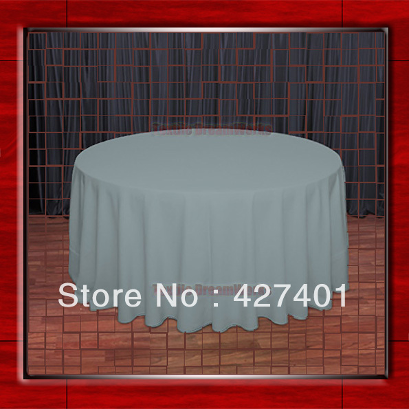 Hot Sale 132 R Slate Round Table Cloth Polyester Plain Table Cover