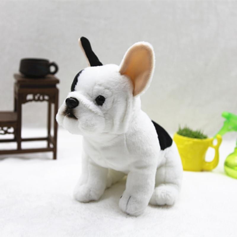 Super Cute Sitting Bulldog Plush Toys Lovely Simulation Dog Doll