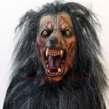 New wolf mask werewolf mask cosplay animal head halloween costume zombi mask horror werewolf creepy crawly dracula mask