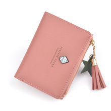 Tassel Women Wallet Small Cute Wallet Women Short Pu Leather Women Wallets Zipper Purses Female Purse Clutch Card Holder leftside designer pu leather women cute short money wallets with zipper female small wallet lady coin purse card wallet purses