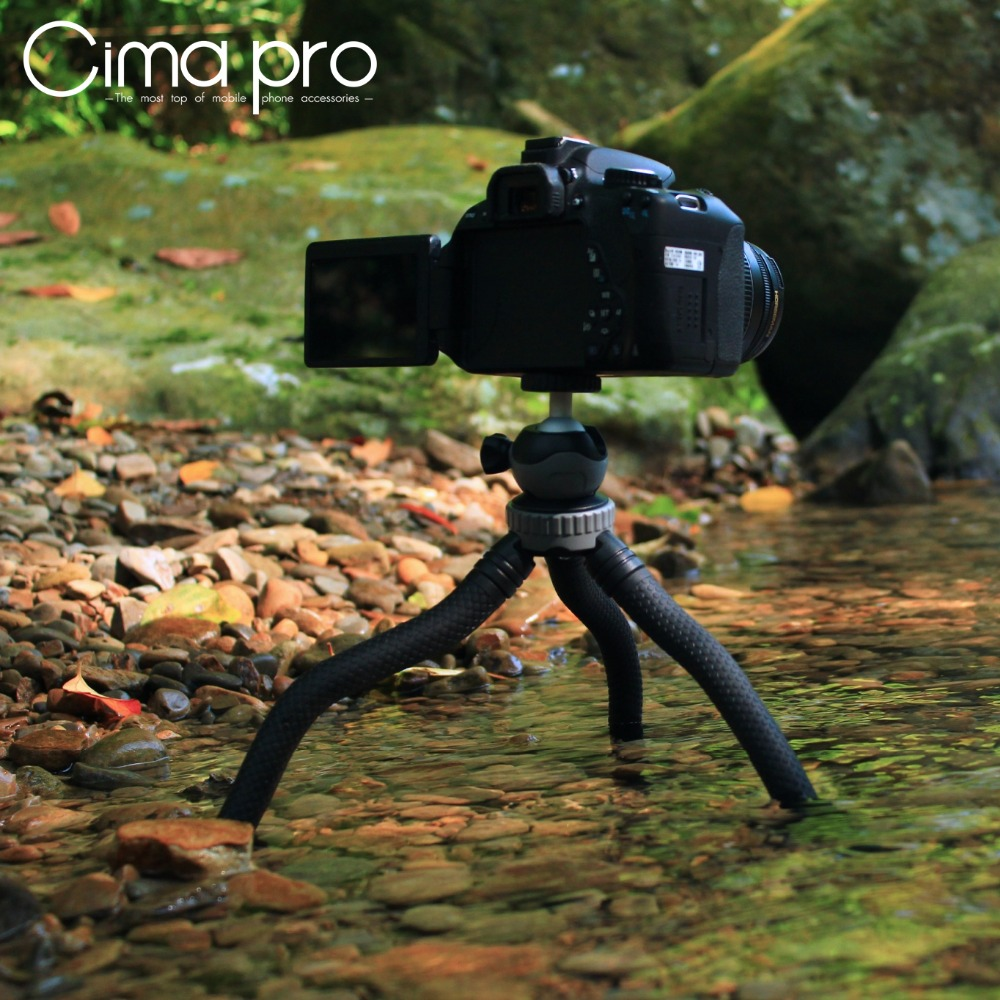 Image 3 - Cima pro RM 30 Travel Outdoor Mini Bracket Stand Octopus Tripod flexible tripe For phone Digital Camera GoPro-in Live Tripods from Consumer Electronics