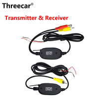 2.4G Hz Nirkabel Kamera Belakang RCA Video Transmitter & Receiver Kit untuk Mobil Kaca Monitor FM Transmitter & Receiver(China)