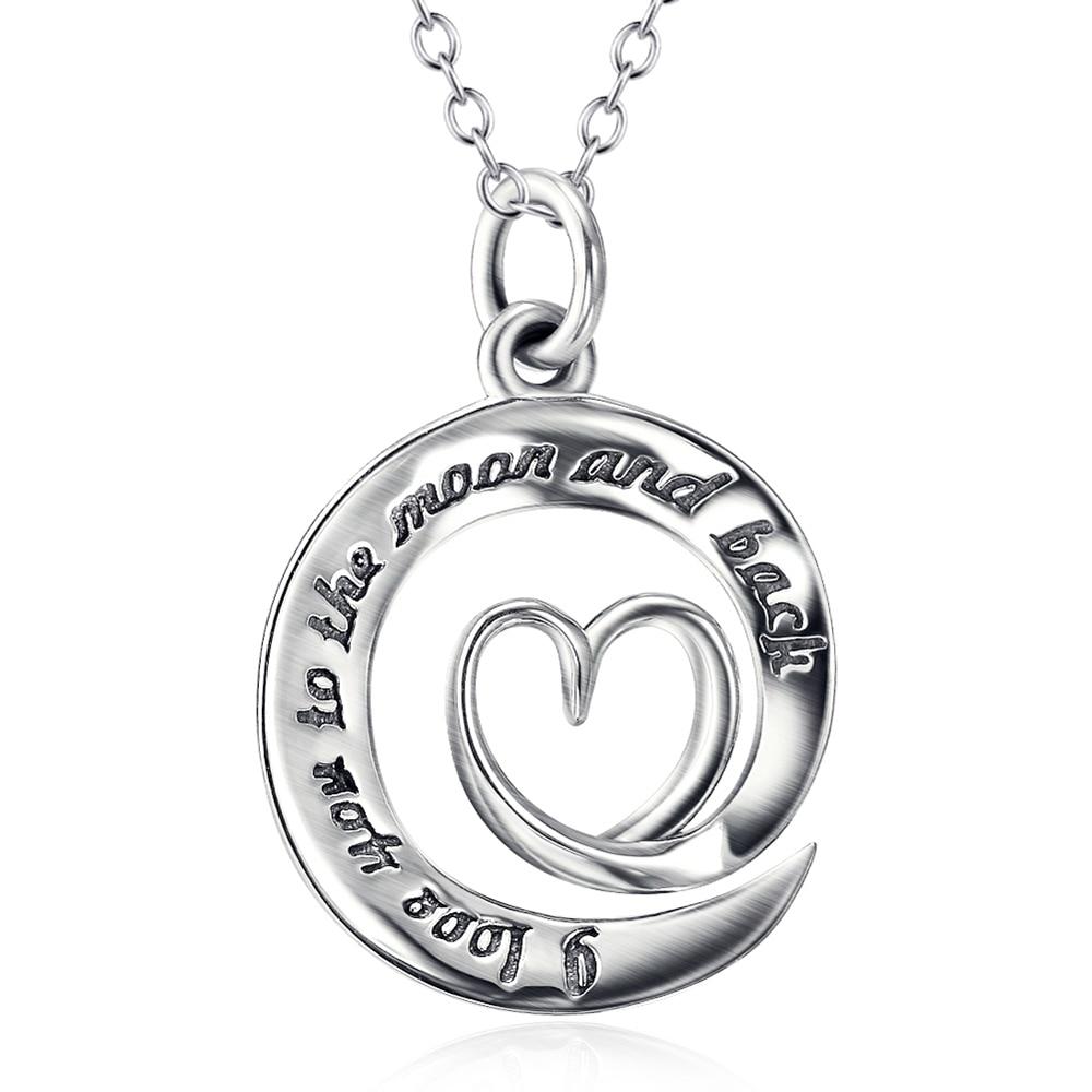 925 Sterling Silber Schmuck Platte Herz Kreis Liebe Anhänger Halskette Frauen Hochzeit Freundin Geschenk Halsreif Collier Chx9869