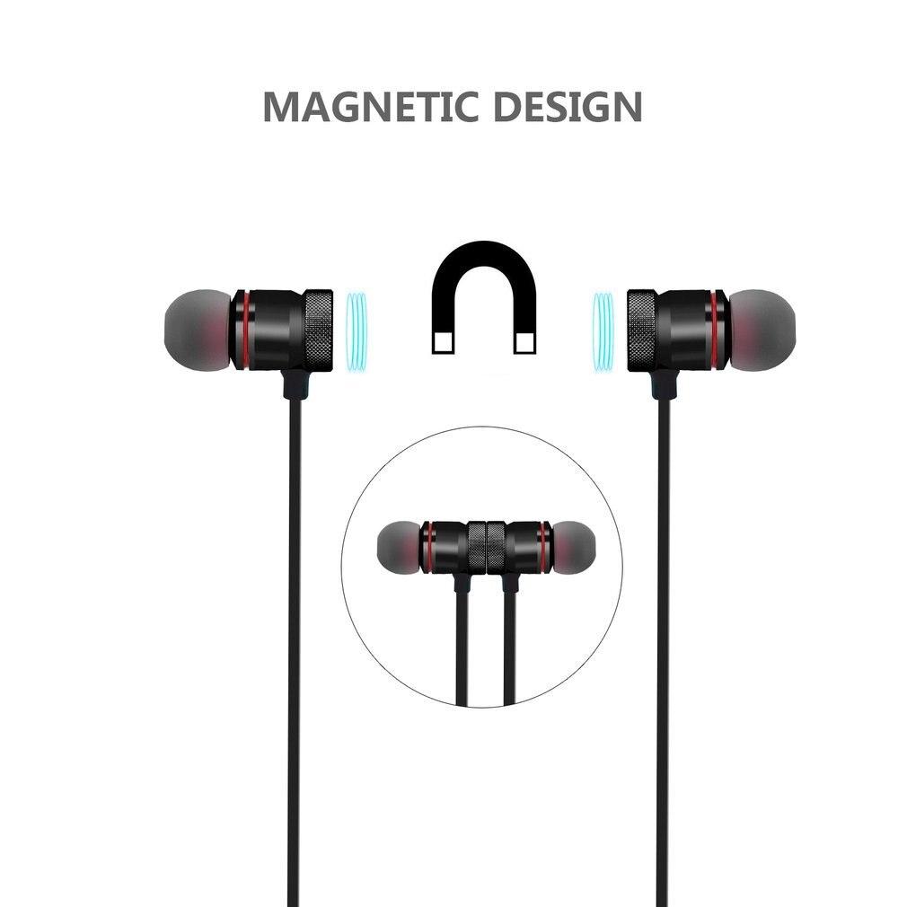 Luli Magnetic sports In Earphone Headset Hifi Earbuds Wireless earpods Bluetooth for Apple Xiaomi sony Phone waterproof Earpiece