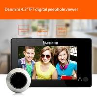 Daminin 2.0MP HD 4.3 TFT Screen Door Peephole Viewer IR Camera 160 Degree Wide Angle 180 * 115 * 35mm