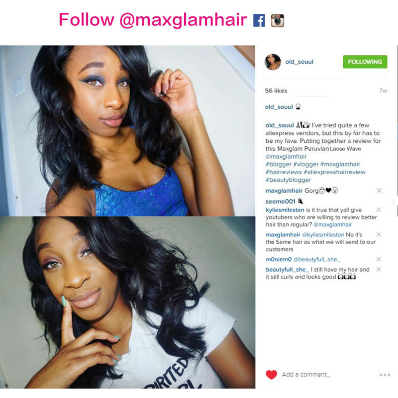 8a premium maxglam hair nice quality products peruvian virgin hair 8a premium maxglam hair nice quality products peruvian virgin hair weave human hair extension bouncy loose wave 1pc sample in hair weaves from hair pmusecretfo Choice Image