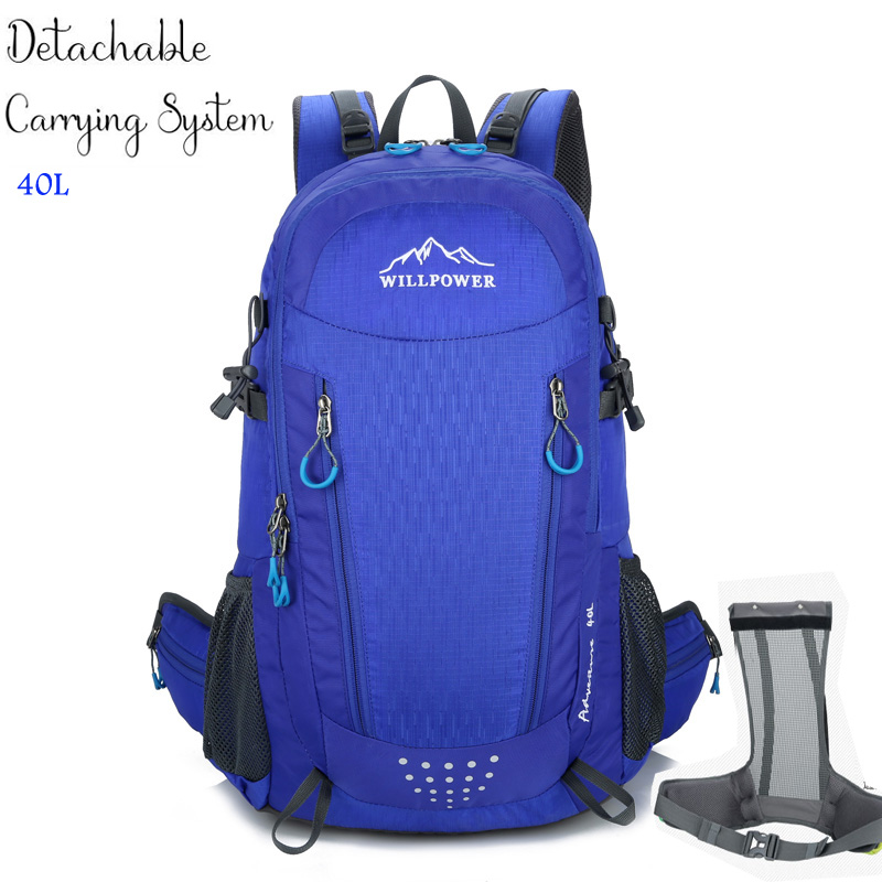 40L Waterproof Travel Backpack Mens Outdoor Camping Trekking Backpack Climbing Mountain Outdoor Backpack Sports Bag Bags 0