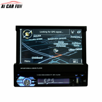 RM CW9601G Car Radio Stereo Support GPS Navigation Universal 7 Inch Slip Down Touch 1DIN FM