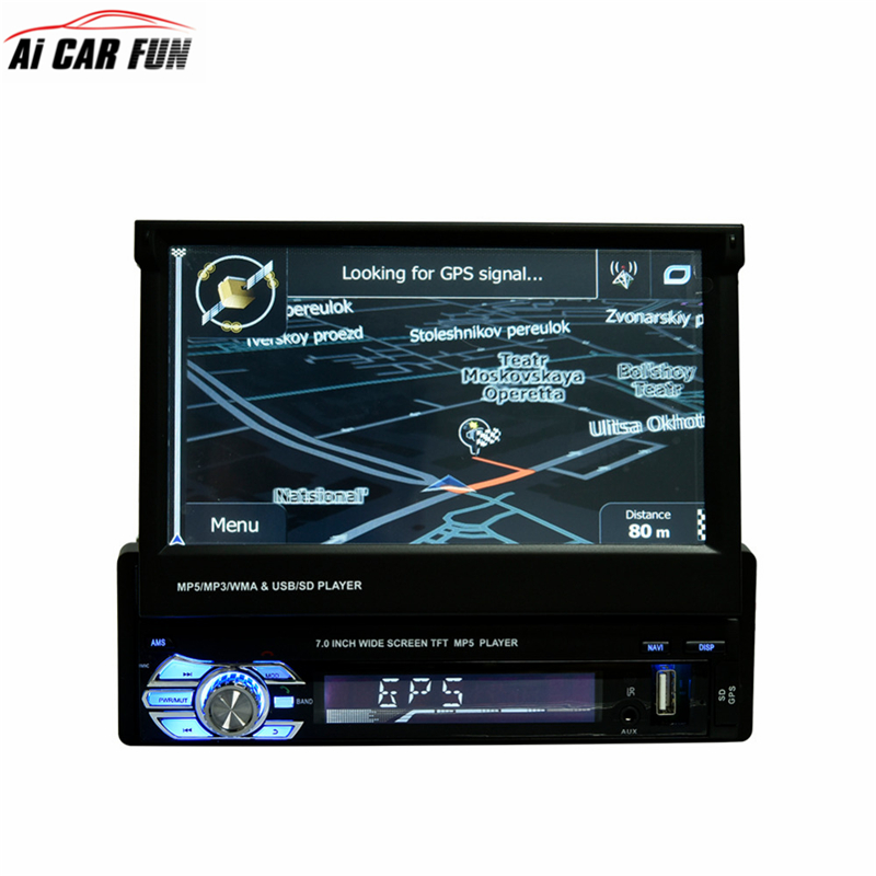 RM-CW9601G Car Radio Stereo Support GPS Navigation Universal 7 inch Slip Down Touch 1DIN FM Only Bluetooth MP3 MP4 Audio Player free ship car radio stereo universal 7 inch slip down touch screen 1din fm am with usb sd bluetooth mp3 mp4 audio player cw0013