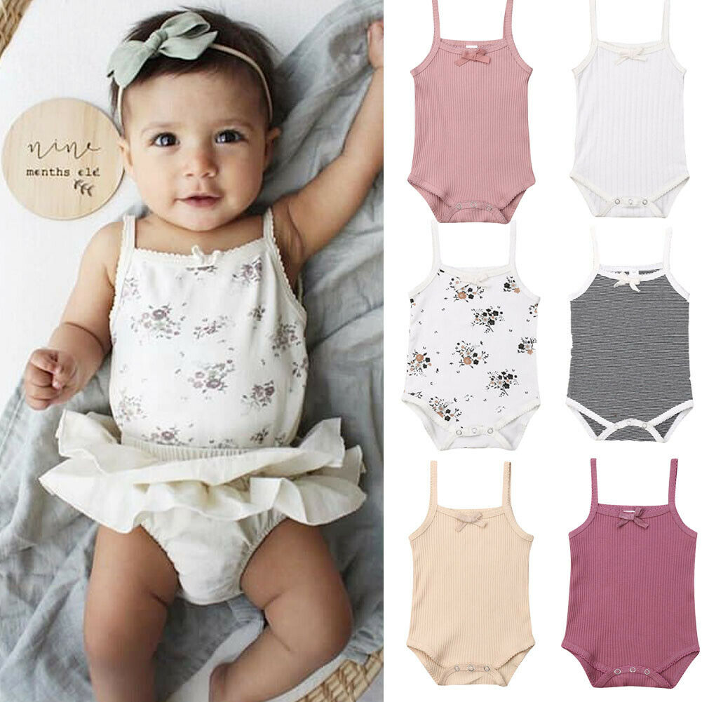 Emmababy Summer Newborn Toddler Kids Baby Girls Clothes Romper Floral Sling Romper Jumpsuit Baby Girls Sunsuit Outfit Casual(China)