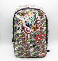 Capitán América Marvel Comics Mochila bolsa de hombro mochila escolar ordenador