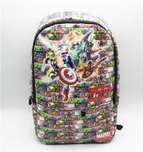 Captain America Backpack Marvel Comics bag shoulder computer school Book Bag