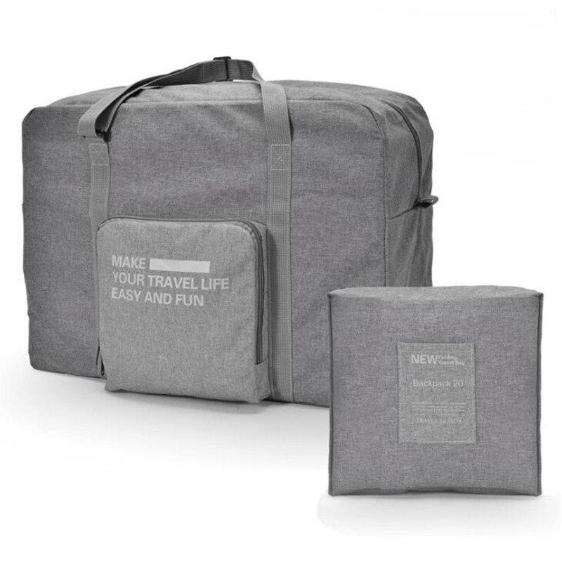 Fashion Large Capacity Storage Bag Luggage Organizer Women Travel Bags Hand Luggage Simple Waterproof Folding Bag Packing Cubes