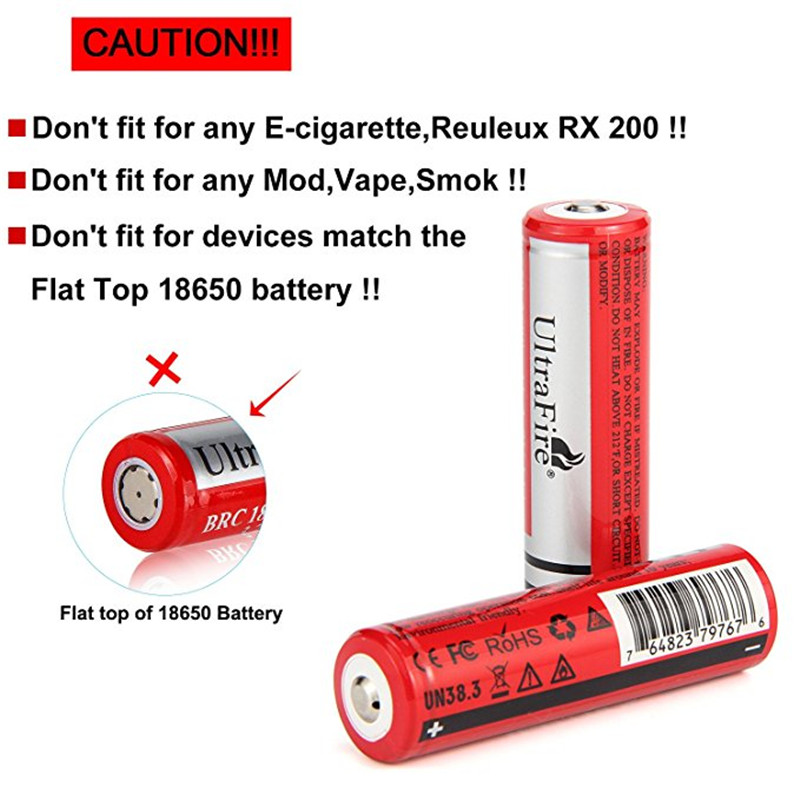 2 Units/set Of Trstfire 18650 Batteries 3.7 V Icr18650 2600 MAh Rechargeable Lithium-ion Battery For Flashlight Battery