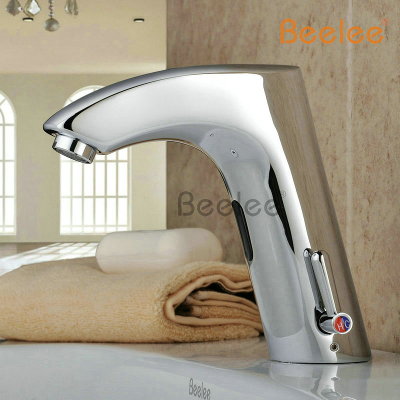 Free Shipping Brass Bathroom Sink Automatic Sensor Mixer tap Hot And ...
