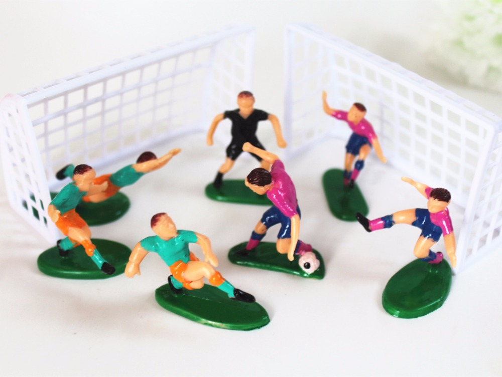4.5cm Cristiano Ronaldo Macey Robin van Persie Neymar da Silva boy kids <font><b>birthday</b></font> Decorations Football Cake Topper Decorating