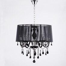 Современные хрустальные люстры светодиодные лампы белый/черный Рисунок абажур Люстра E12/E14 led освещение led блеск droplight/pendant2