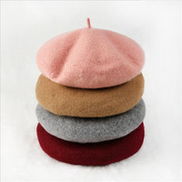XDOMI 2018 New Arrivals 100 Wool Beret Hat For Women Winter Warm Hats Knit Cashmere Hats