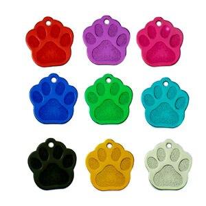 Image 5 - 卸売 100 個 3D 絶妙なポウシェイプ犬 ID タグカスタム刻ま名電話番号猫犬 ID タグペット用品