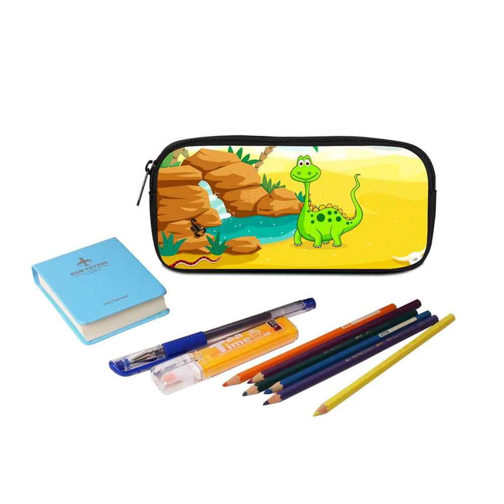 Large Capacity Canvas School Student Pencils Box Case For Teens Boy Girl Male/Female Pen Holder For Office/Working/School Lizard