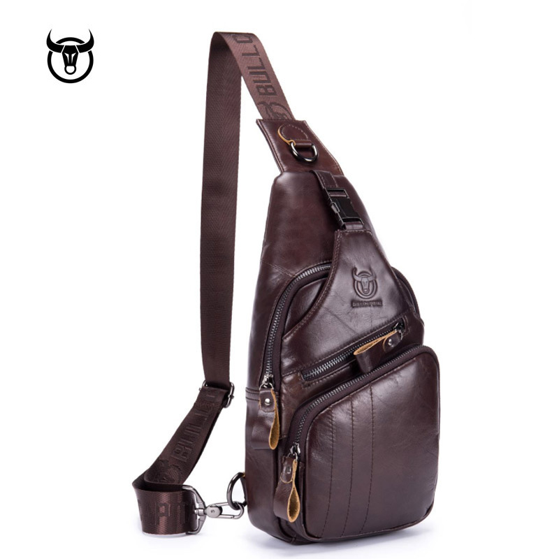 Famous brand Genuine Leather Men Messenger Bag Casual Crossbody Bag Fashion Mens Handbag men chest bag Male Shoulder BagFamous brand Genuine Leather Men Messenger Bag Casual Crossbody Bag Fashion Mens Handbag men chest bag Male Shoulder Bag