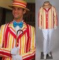 Chegada nova Custom Made Mary Poppins Bert Jacket Adulto Cosplay Filme Traje Para Festa de Halloween Frete Grátis