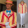 New Arrival Custom Made Mary Poppins Bert Jacket Adult Movie Cosplay Costume For Halloween Party Free Shipping