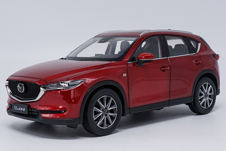 1:18 Diecast Model For Mazda CX-5 2018 Red SUV Alloy Toy Car Miniature Collection Gift CX5 CX 5