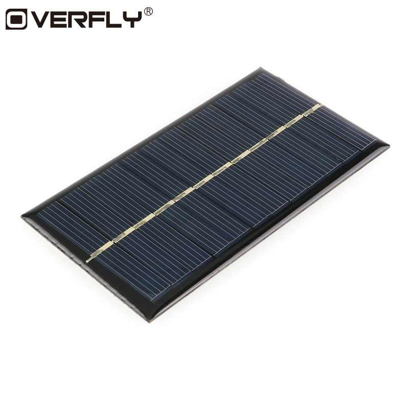 Overfly Mini 6V 1W Solar Panel 110*60mm Sunpower DIY Module Panel System For Portable Solar Lamp Battery CellPhone Charger Solar