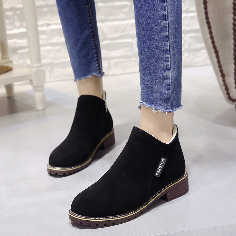 2018 new Boots Woman Shoes Winter Female Warm Fur Water-resistant Upper Fashion Non-slip Sole Free Shipping New Style Snow Boot (4)