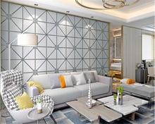 цена на beibehang Extra thick 3D suede papel de parede 3d wallpaper TV background plaid soft bag living room bedroom nonwoven wallpaper