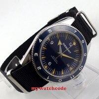 41 мм debert синий сандвич циферблат сапфировое стекло Miyota автоматические мужские часы D13