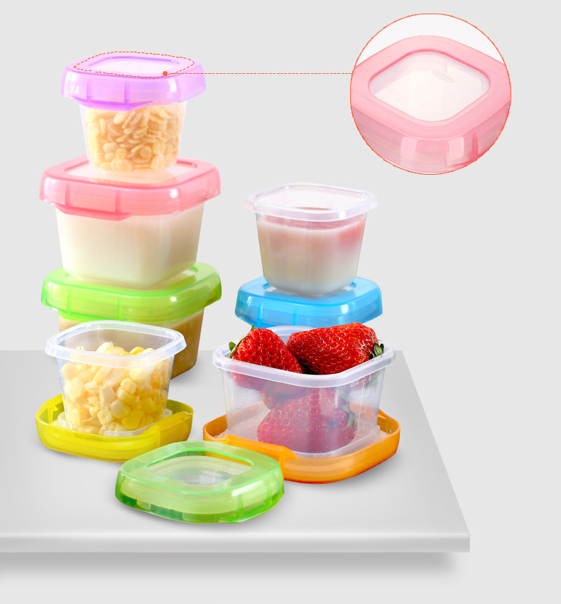 Baby food containers supplement plastic cup storage boxes food