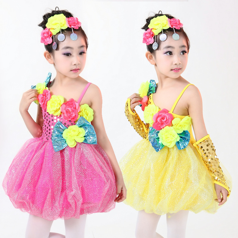 Lovely Sweet Little Girl Fairy Princess Dress Candy Color ...
