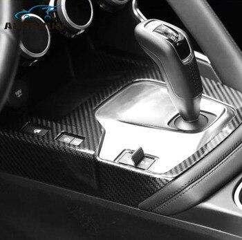 ABS plated carbon fiber texture Gear protection cover Car Accessories For Jaguar E - pace 2017 2018 2019