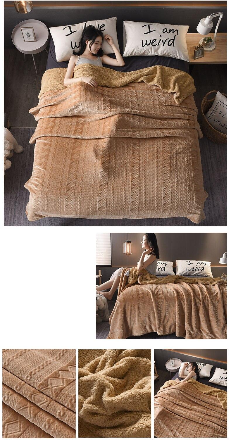 sofá cama avião viagem grossa colcha cor super quente macio
