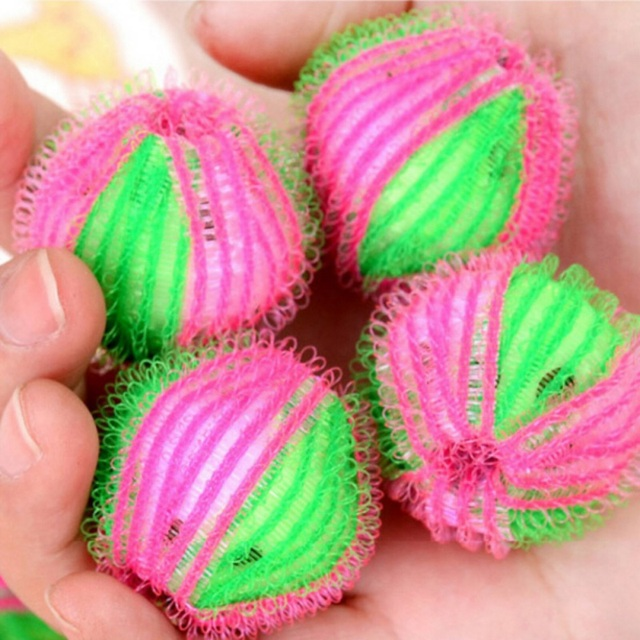 6pcs/pack Magic Hair Removal Laundry Ball Clothes Personal Care Hair Ball Washing Machine Cleaning Ball