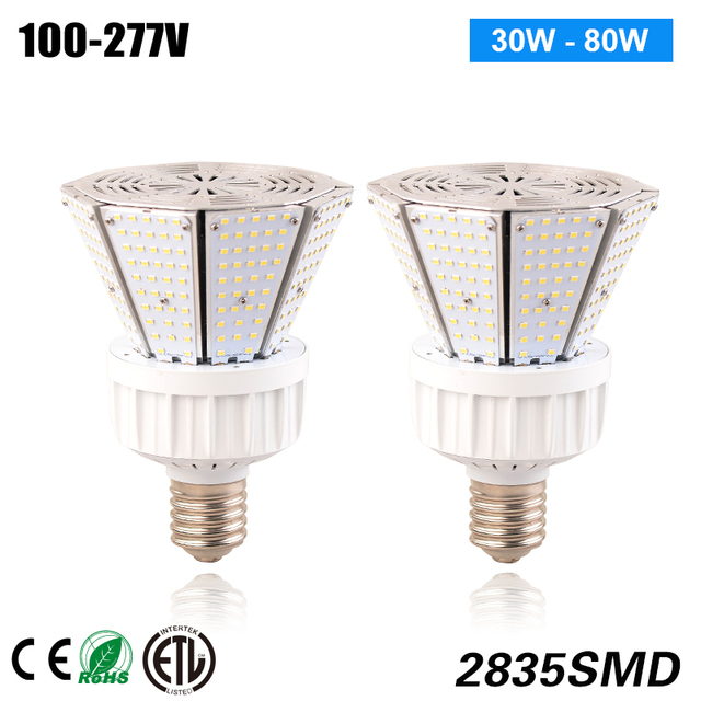 80w High E27 Led Post Top Bulbs Replace Mh Hps Lights