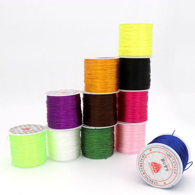 50yard High Elastic Rope <font><b>Threads</b></font> Stretchy Crystal <font><b>Beading</b></font> Cords For Jewelry Making Diy Bracelet Needlework Accessories Wholesale image