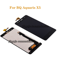 """5.0 """"מקורי תצוגה עבור BQ Aquaris X5 LCD + מסך מגע החלפת Digitizer עבור BQ X5 LCD נייד טלפון אביזרי תיקון"""
