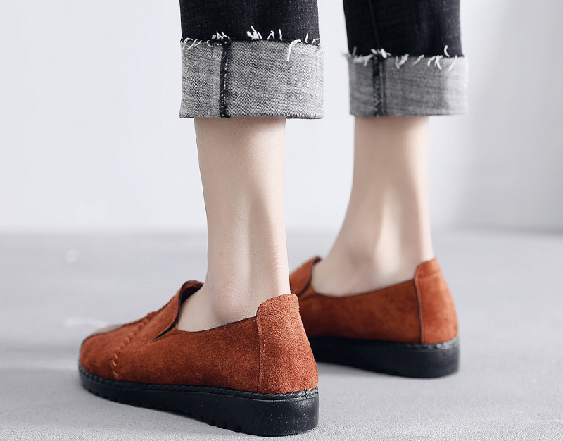 Plus Size Summer Women Flats Fashion Splice Flock Loafers Women Round Toe Slip On Leather Casual Shoes Moccasins New 2019 VT209 (13)