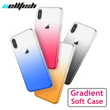 Gradient Soft Silicone Case for iPhone XR XS MAX 6s 7 8 Plus 7Plus 8Plus Coque Clear TPU Accessories Capinha for iPhone7 Cover(China)