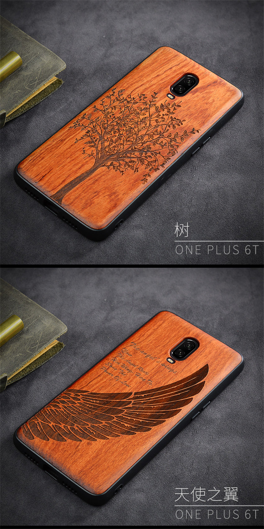 Oneplus 6t Case Boogic Original Real Wood funda Oneplus 6T Rosewood TPU Shockproof Back Cover Phone Shell One plus 6T case (12)